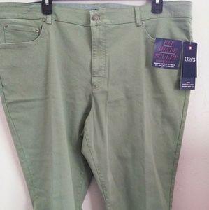 Pants - Chaps olive green Capri pants